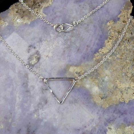 Triangle Necklace by Beryllina