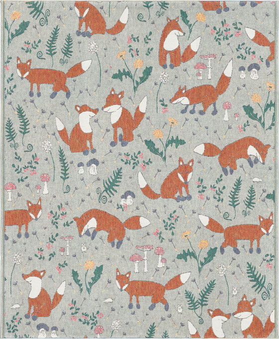 Ekelund Organic Cotton Throw, Ravar, Fox
