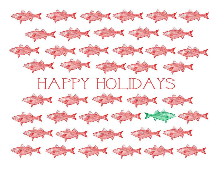 Boxed Note Cards, School of Holiday Fish