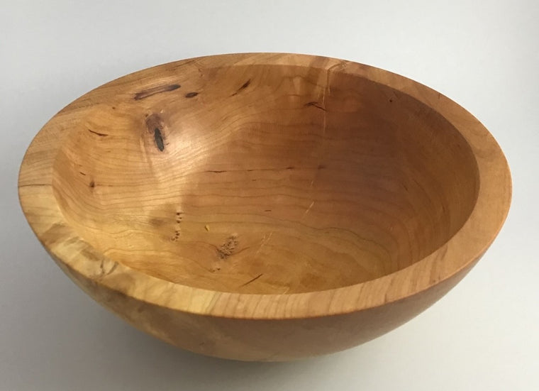 Wood Turned Bowl, Cherry Cain