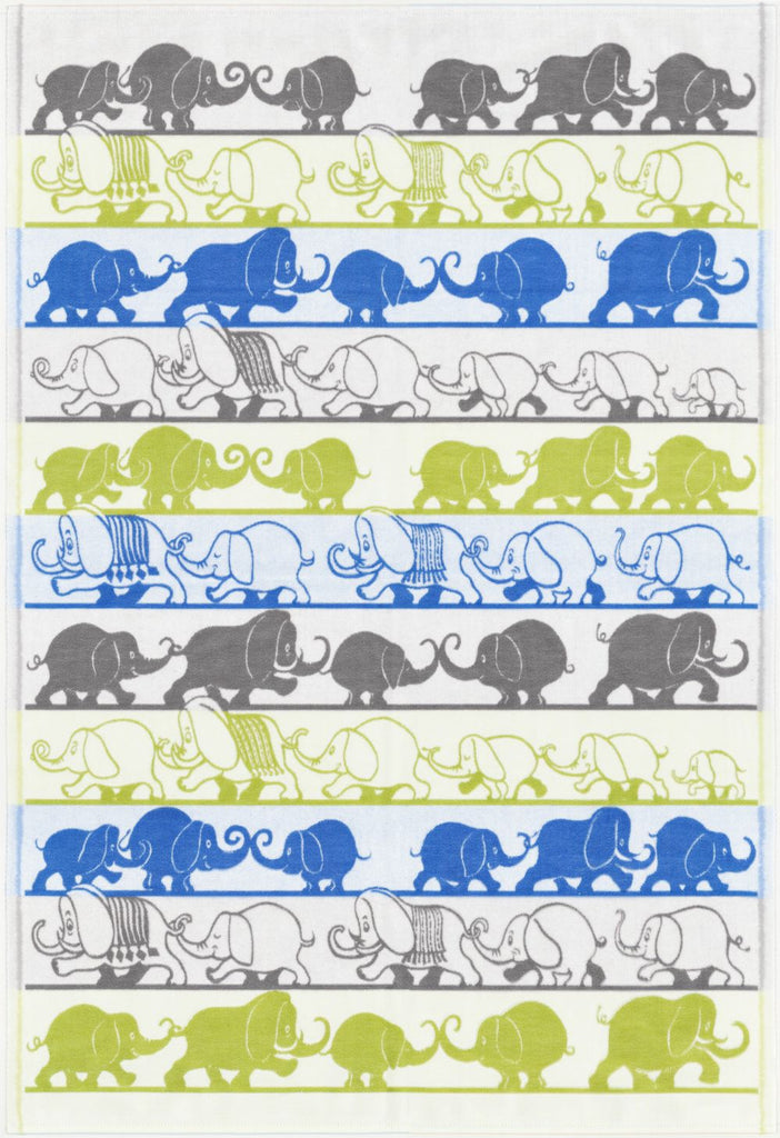Ekelund Elephant Baby Blanket, Yellow and Blue