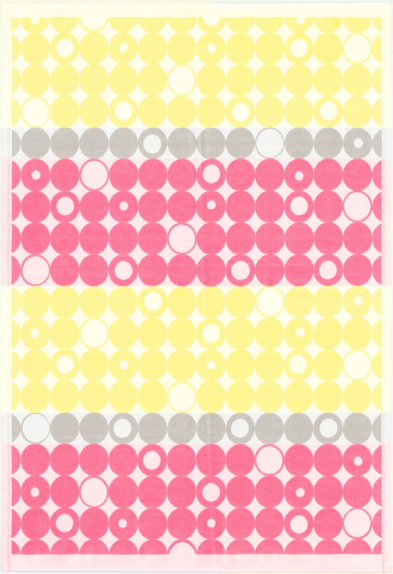 Ekelund Geometric Baby Blanket, Yellow and Pink