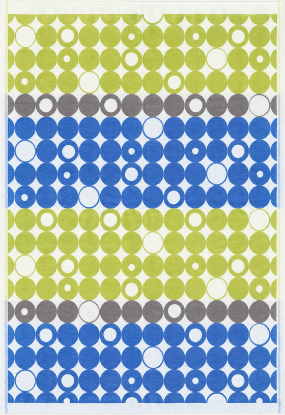 Ekelund Geometric Baby Blanket, Lime Green and Blue