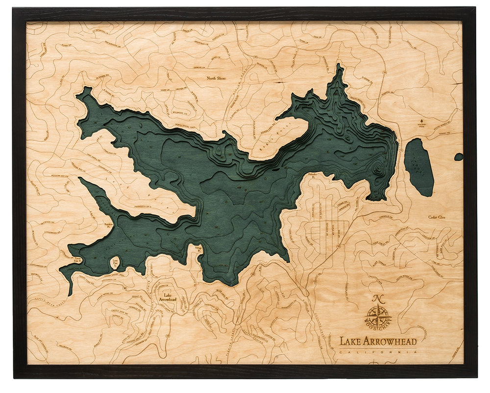Lake Arrowhead Wood Chart Map