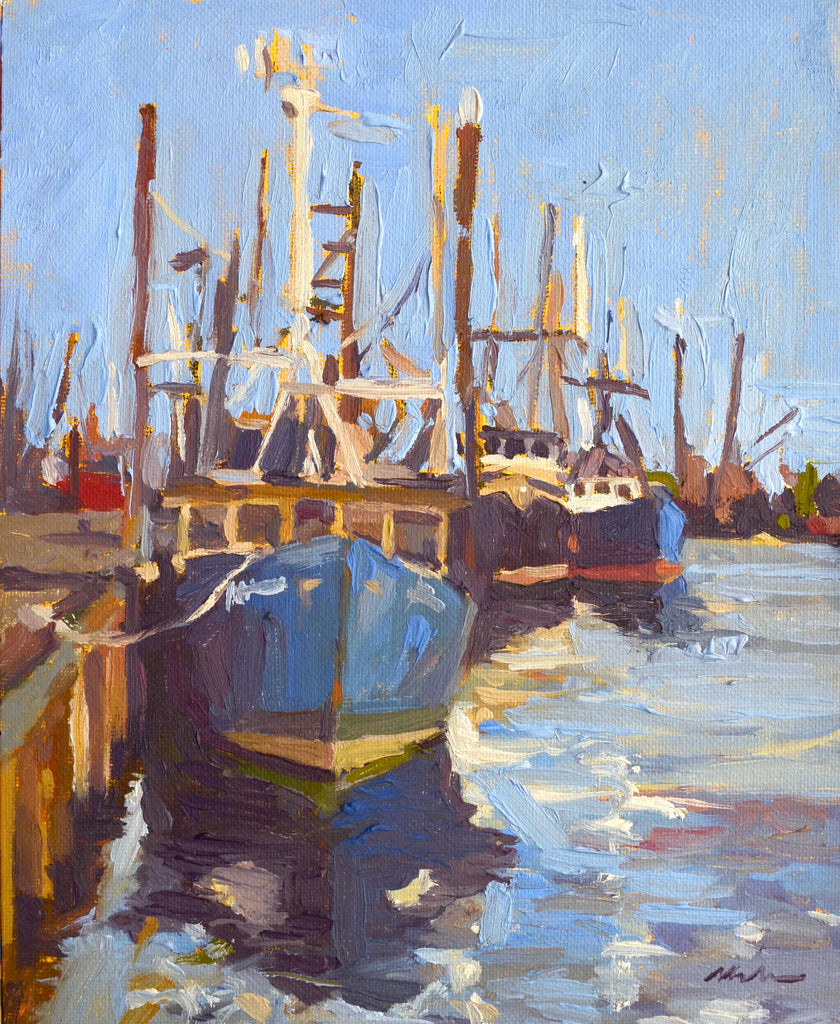 Original Oil Painting by Robert Abele - Fishing Boat