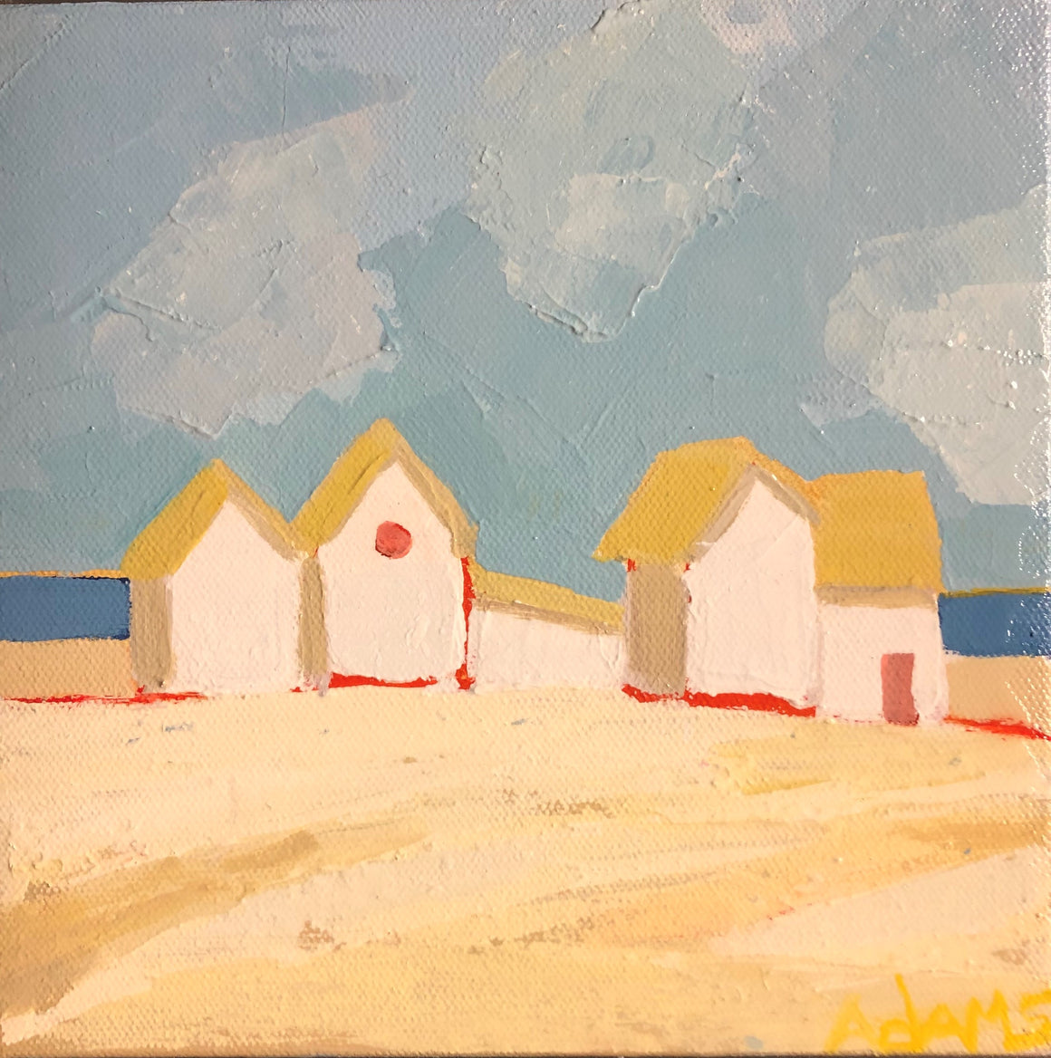 Summer Cottages, Original Painting by Phyllis Dobbyn Adams
