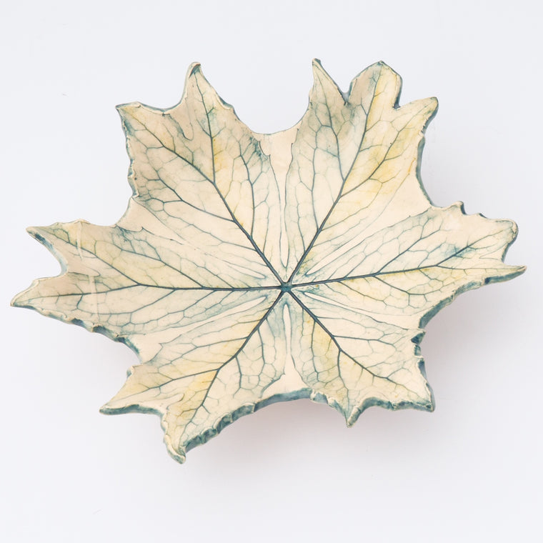 mandrake leaf dish by amy thurber
