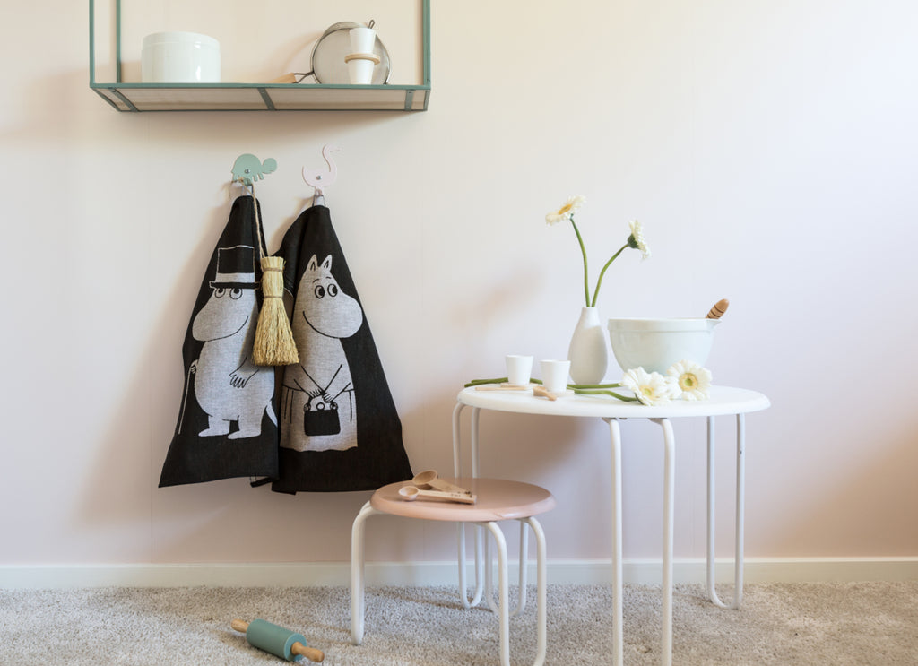 """Moomin Papa"" Dish Cloths and Hand Towels by Ekelund Wovens"