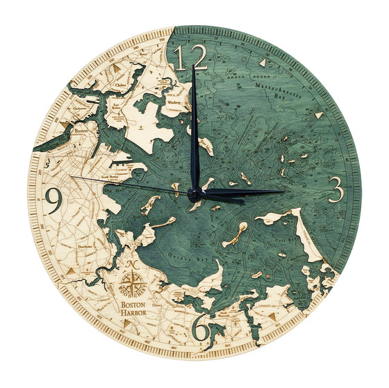 Boston Harbor Wall Clock