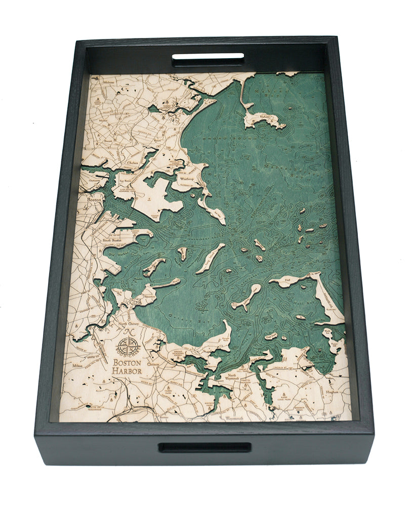 Boston Harbor Serving Tray
