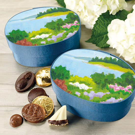 Seaside Garden Fabric Box of Assorted Chocolates