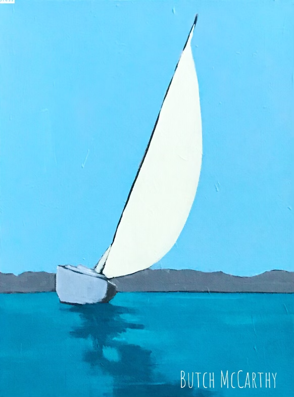 Close to Shore, Original Painting by Butch McCarthy