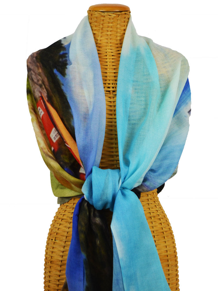 Norwegian Summer, Merino Wool  & Silk Scarf