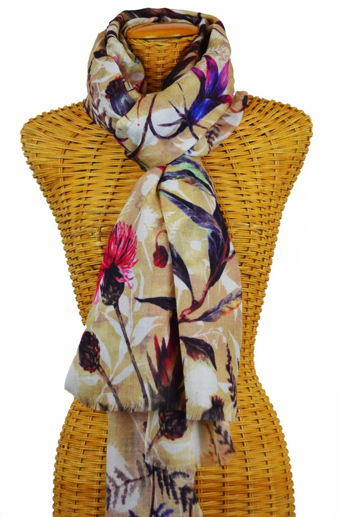 Thistle Merino Wool and Silk Scarf