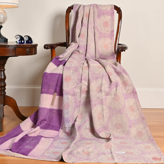 Lebbonnee Lilac Kantha Throw