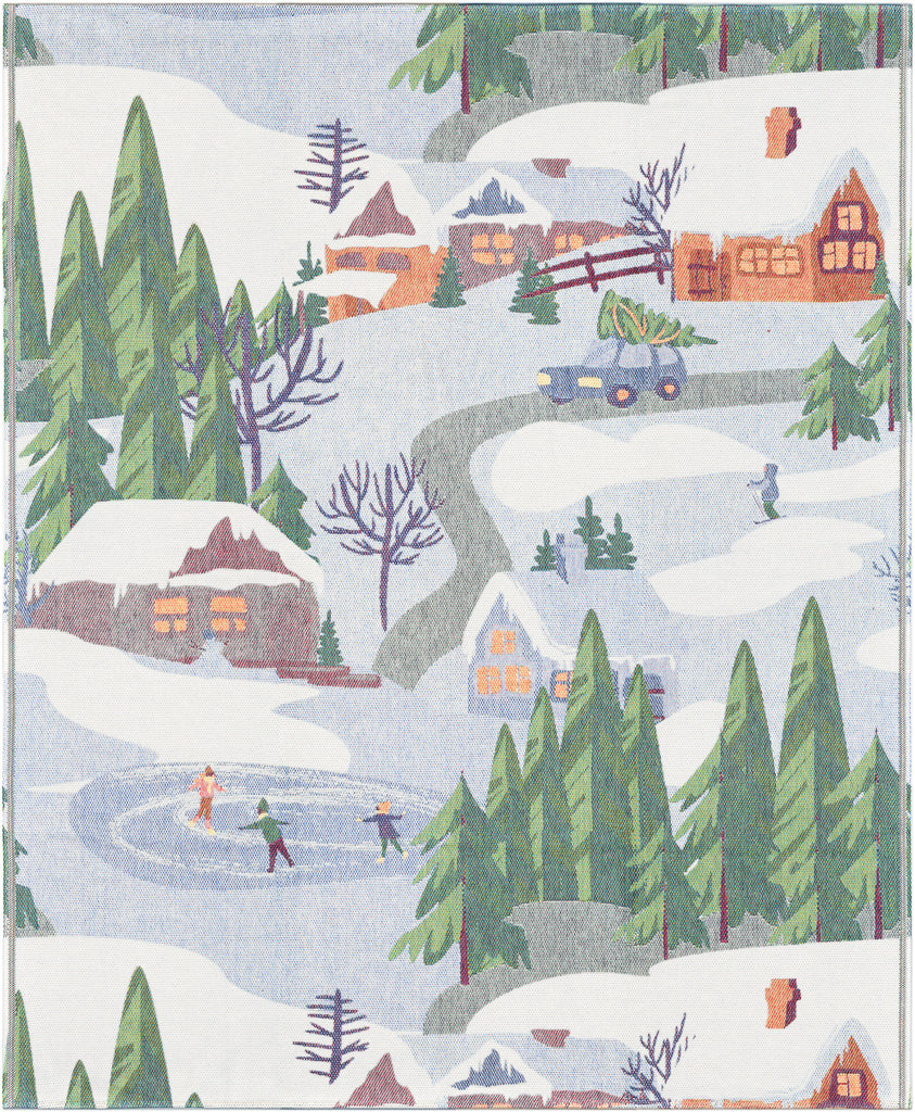 Ekelund Organic Cotton Throw, Vinterliv, Winter Scene