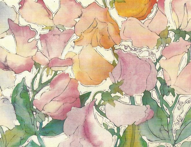 Boxed Note Cards, English Sweet Pea