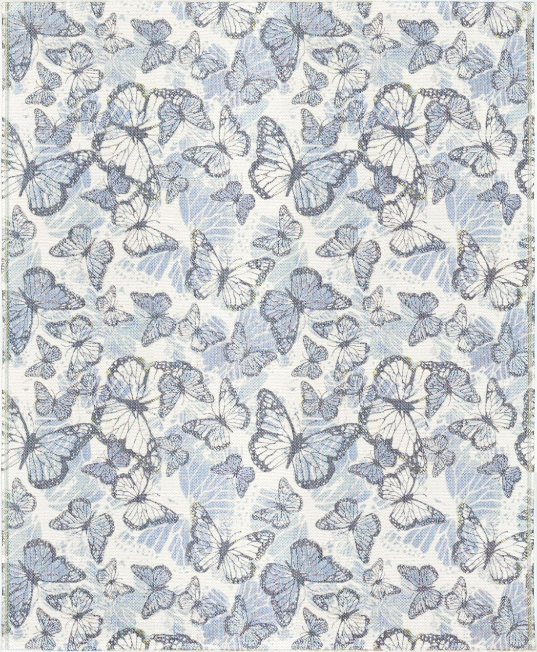 Ekelund Organic Cotton Throw, Freja, Butterflies