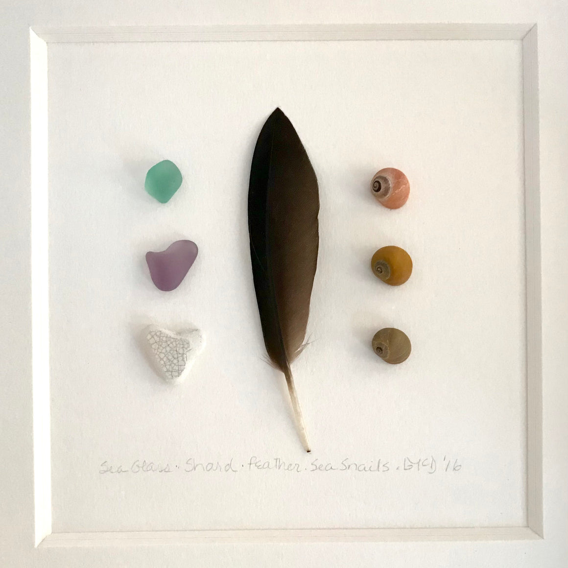 """Feather Seaglass Periwinkle"" by Barbara McDowell"