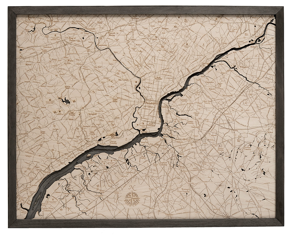 Philadelphia Wood Chart Map