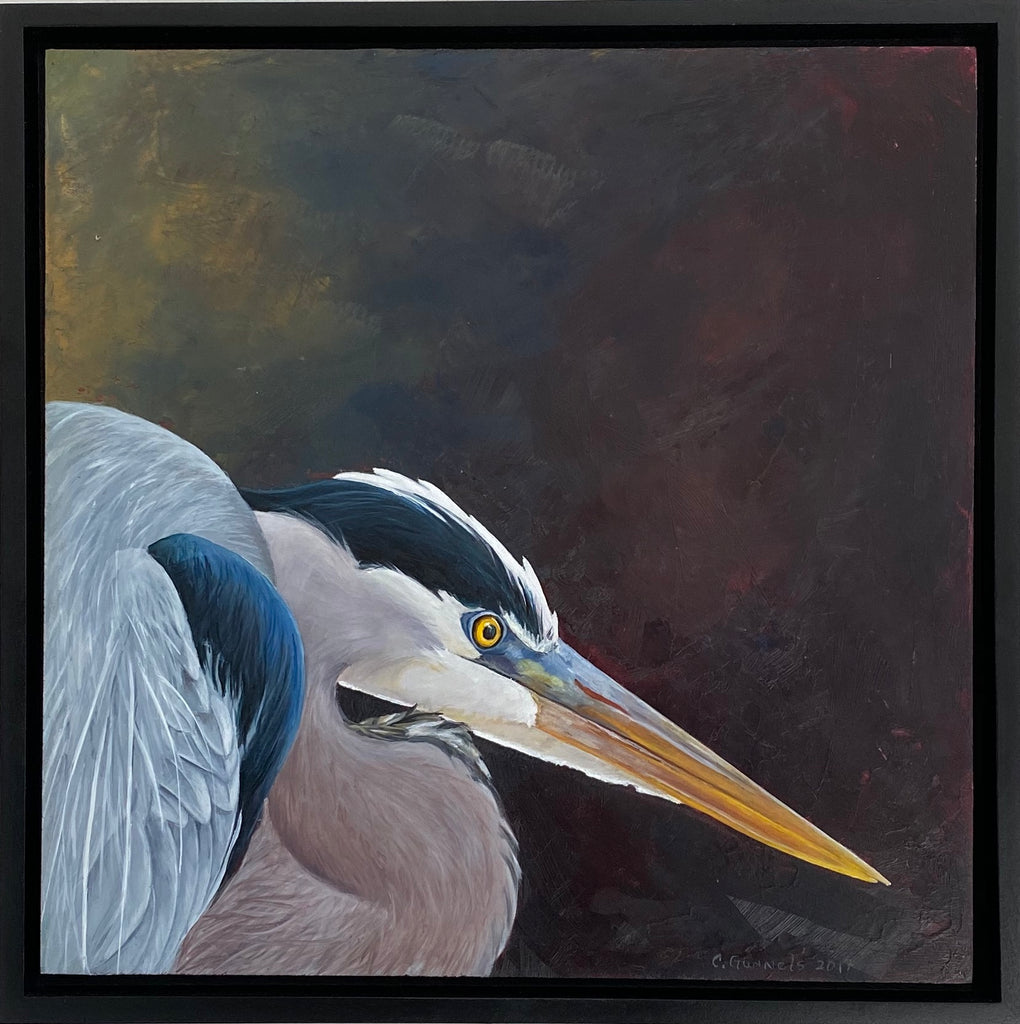Great Blue Heron #5, Original Oil Painting