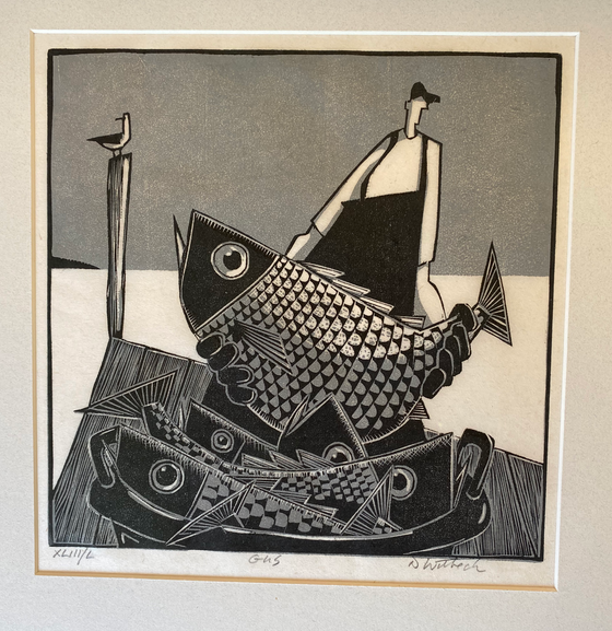 """Gus XLIII"", Woodcut by David Witbeck"