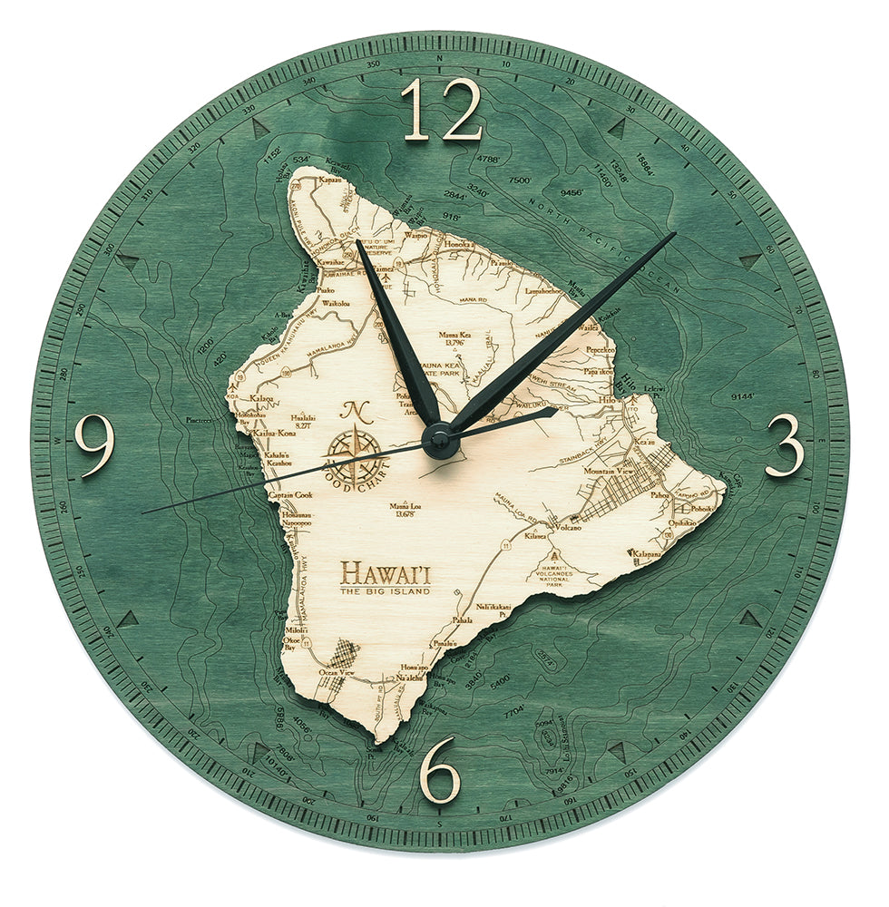 Hawaii -The Big Island Wall Clock