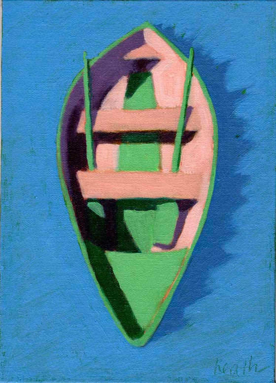 Dinghy Oil Painting 3