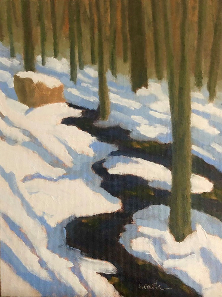 Clark Road Stream, Winter in the Woods