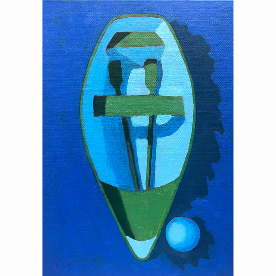 Dinghy Oil Painting 4