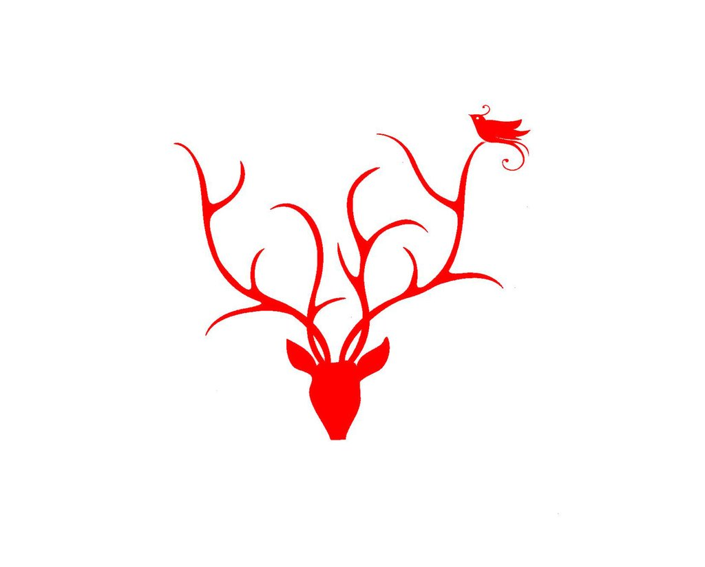 Boxed Note Cards, Red Antlers