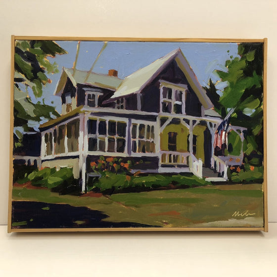 Original Oil Painting by Robert Abele - Nonquitt Cottage