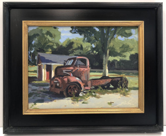 Original Oil Painting by Robert Abele - Farm Truck