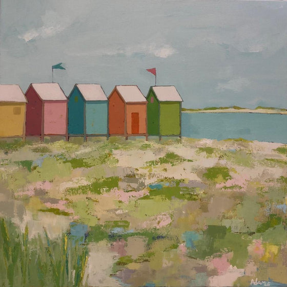 Cabanas, Original Painting by Phyllis Dobbyn Adams