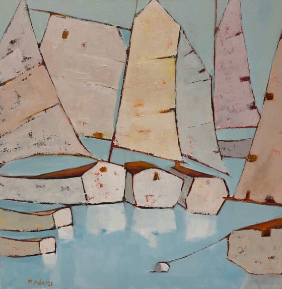 Moored, Original Painting by Phyllis Dobbyn Adams