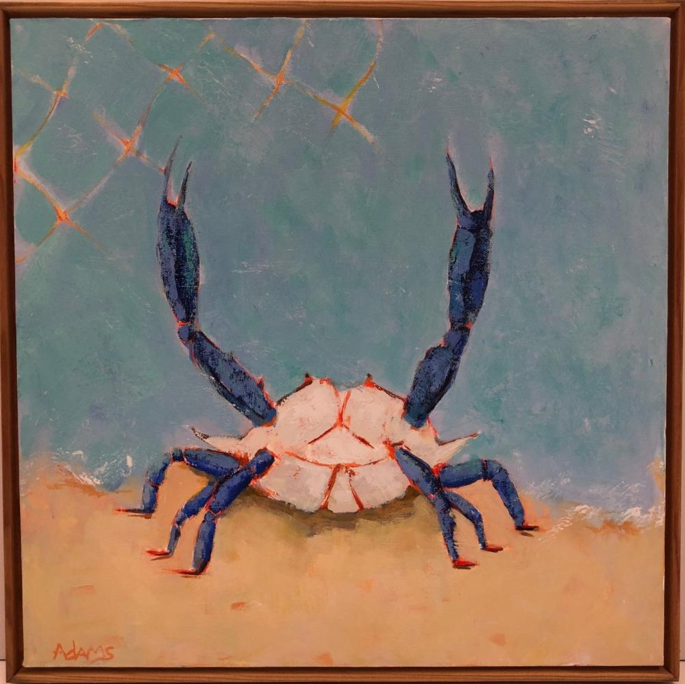 Blue Crab II, Original Painting by Phyllis Dobbyn Adams