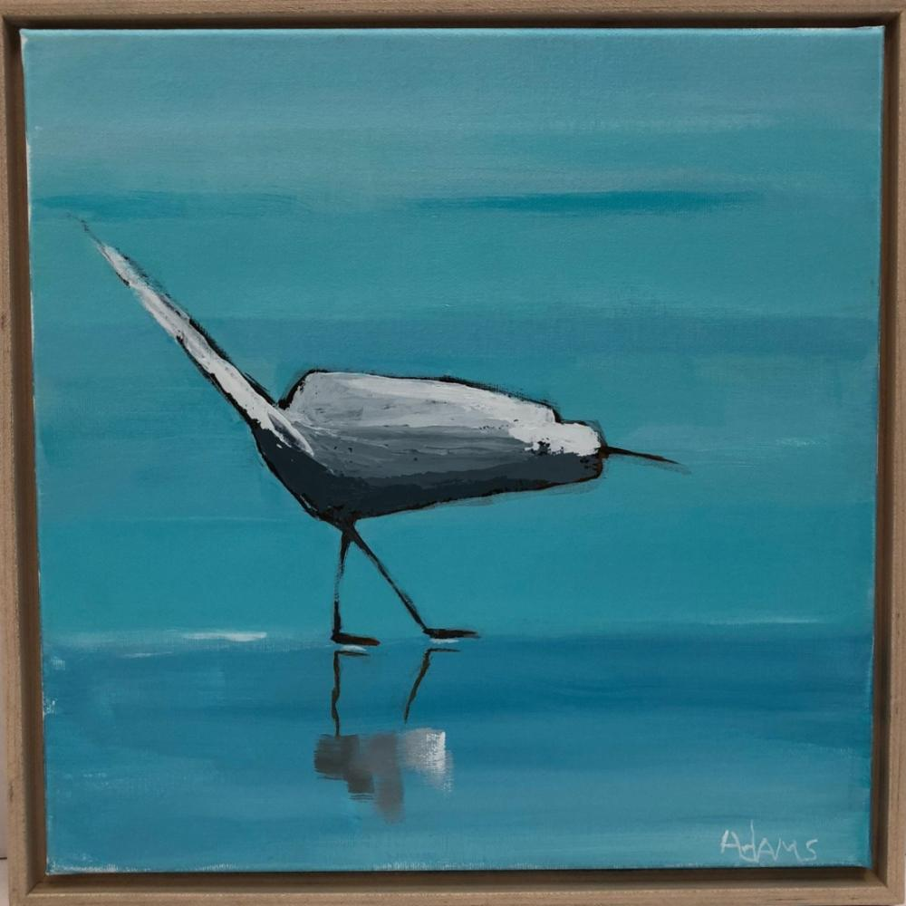 Egret I, Original Painting by Phyllis Dobbyn Adams