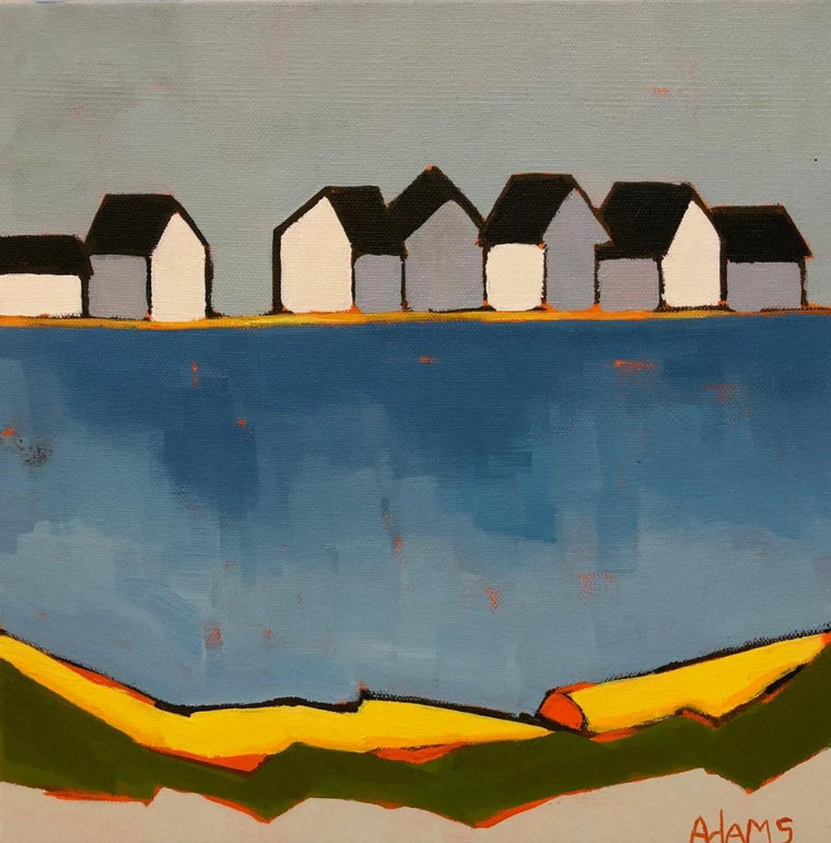 Cottage by the Sea, Original Painting by Phyllis Dobbyn Adams