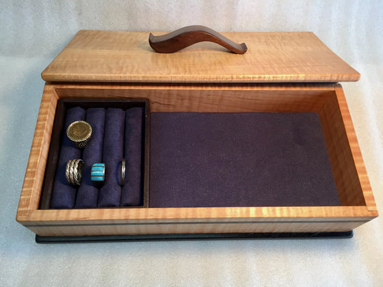 Ribbon Maple Jewelry Box by Michael Pietragalla