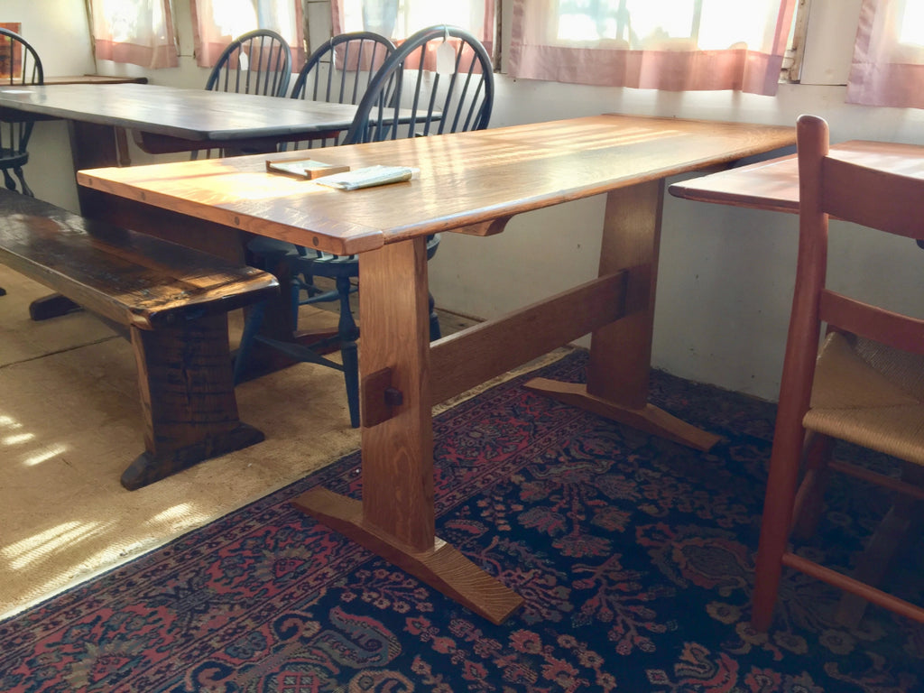 White Oak Trestle Table by Michael Pietragalla
