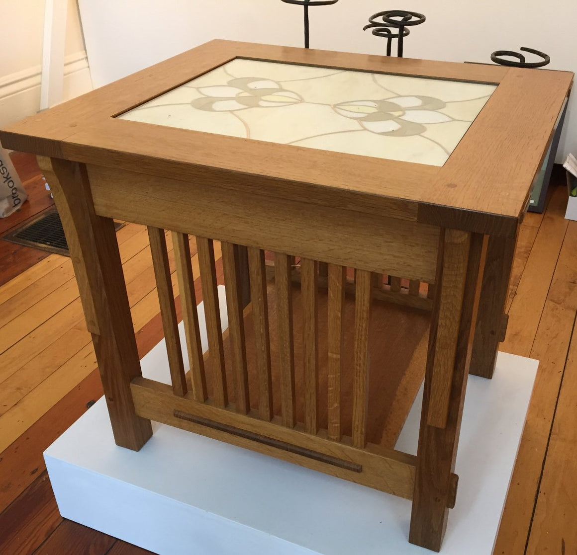 White Oak Fumed End Table
