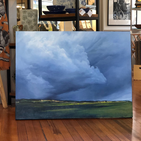 """Storm Clouds Overhead"", Original Oil Painting by Christy Gunnels LaGue"