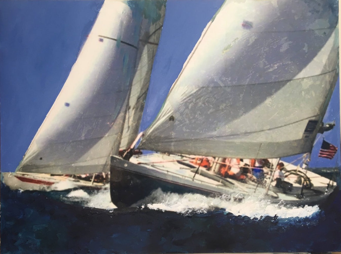 Newport Sail by Estelle Chojnicki