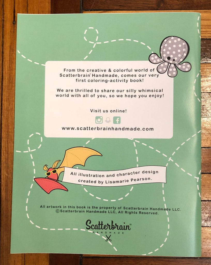Scatterbrain Handmade Coloring Book, by Lisamarie Pearson