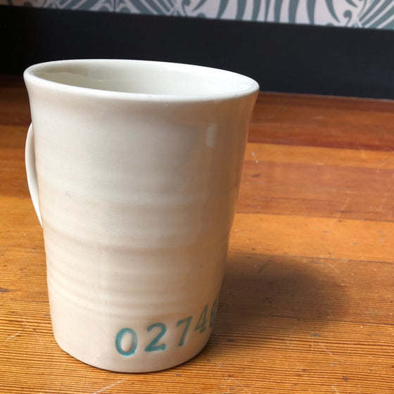 Hand Painted Zip Code Mugs