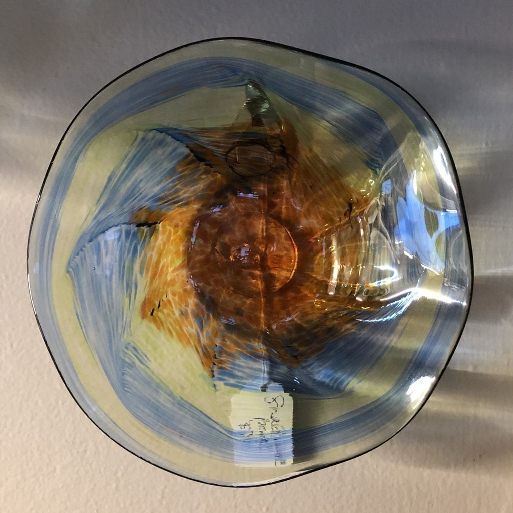 Small Hand Blown Glass Bowl Wall Hanging