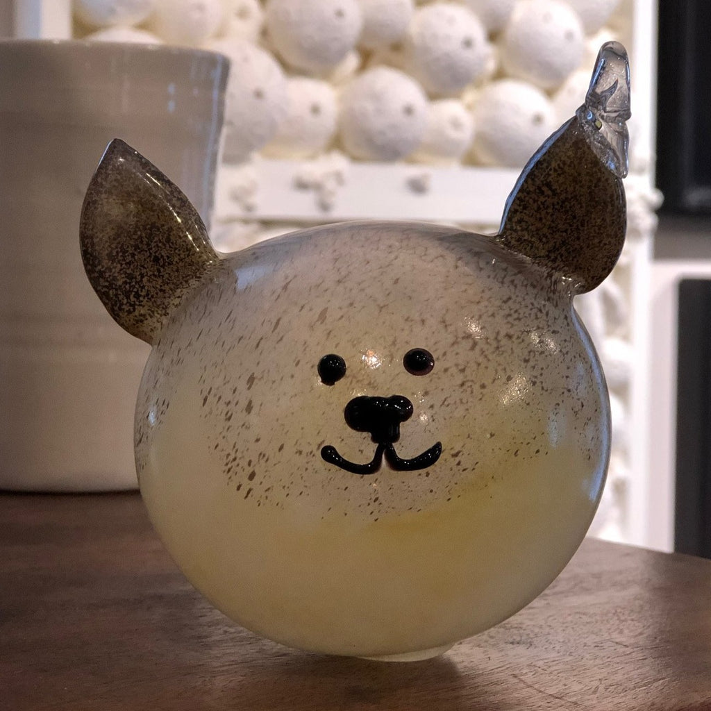 Hand Blown Glass Animal Ornament - Puppy Dog