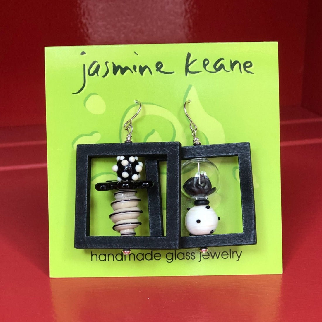 Black Window Earrings by Jasmine Keane