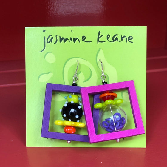 Square Big Girl Earrings by Jasmine Keane