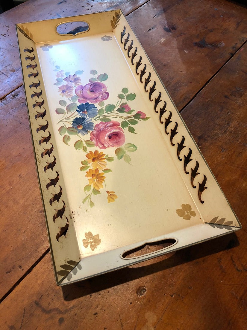 Vintage Handpainted E.T. Nash Co Serving Tray